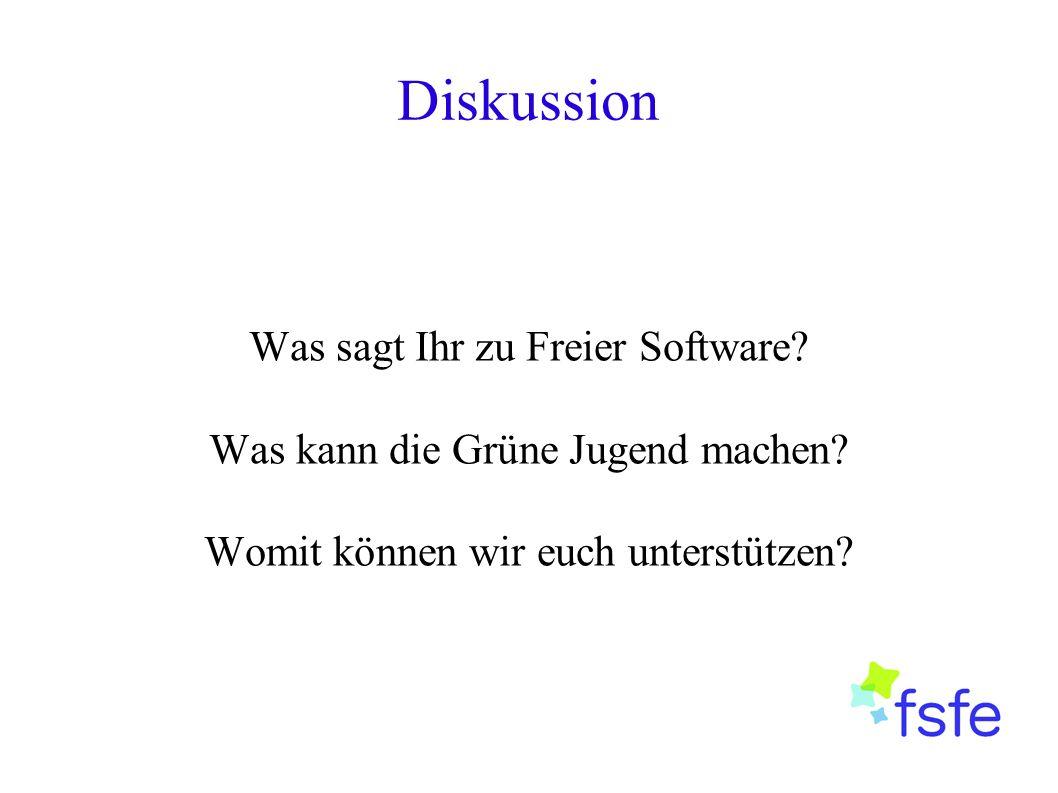 Diskussion Was sagt Ihr zu Freier Software? Was kann die Grüne Jugend machen? Womit können wir euch unterstützen?