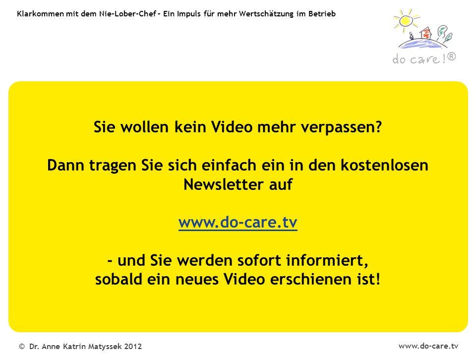 www.do-care.tv © Dr.