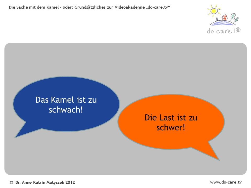 www.do-care.tv © Dr. Anne Katrin Matyssek 2012 ®