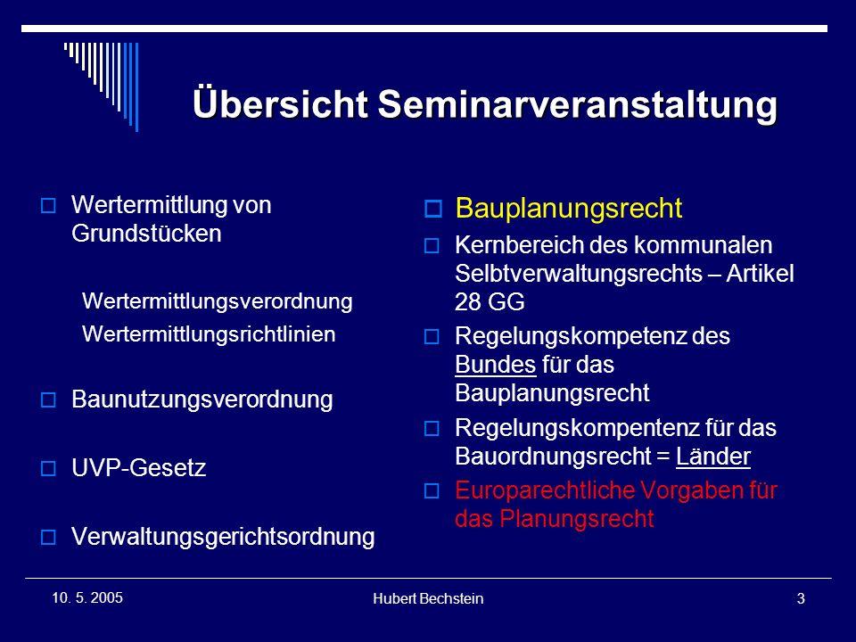 Hubert Bechstein14 10.5. 2005 EAG Bau 2004  Bodenordnung, vereinfachte Umlegung, §§ 80 ff.