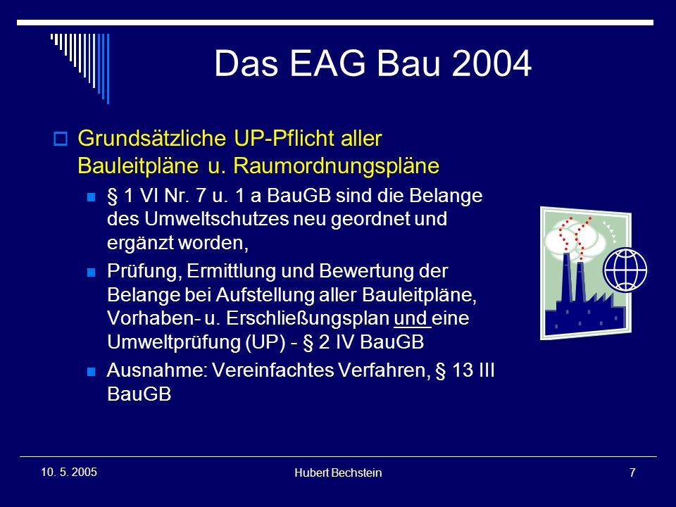 Hubert Bechstein8 10.5. 2005 Das EAG Bau 2004 1.