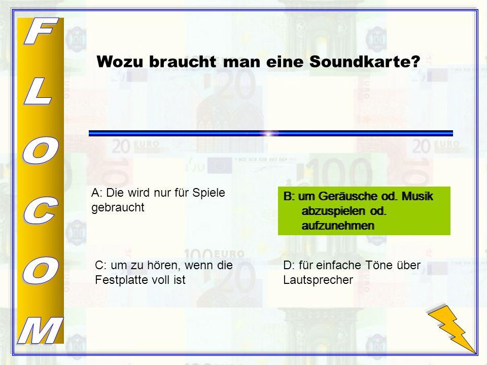 B: um Geräusche od.Musik abzuspielen od.