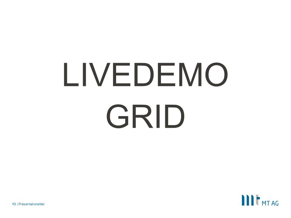 | LIVEDEMO GRID Präsentationstitel13