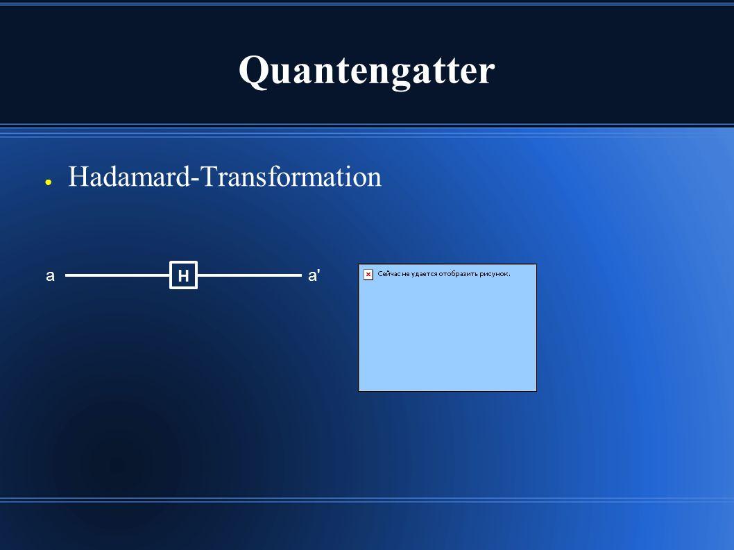 Quantengatter ● Hadamard-Transformation aa' H