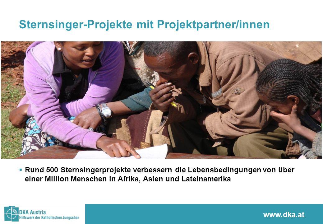 www.sternsingen.at Sternsinger-Projekte mit Projektpartner/innen  Rund 500 Sternsingerprojekte verbessern die Lebensbedingungen von über einer Millio