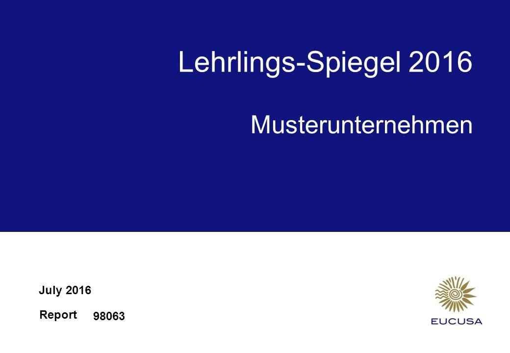 Report Lehrlings-Spiegel 2016 July 2016 98063 Musterunternehmen