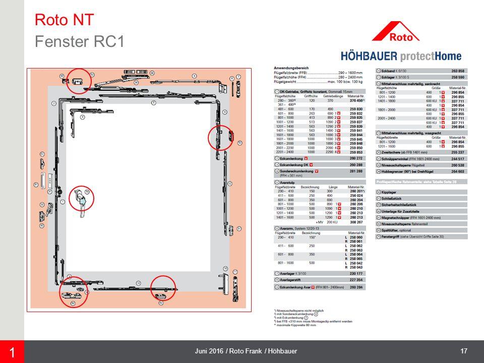 17Juni 2016 / Roto Frank / Höhbauer 1 Roto NT Fenster RC1