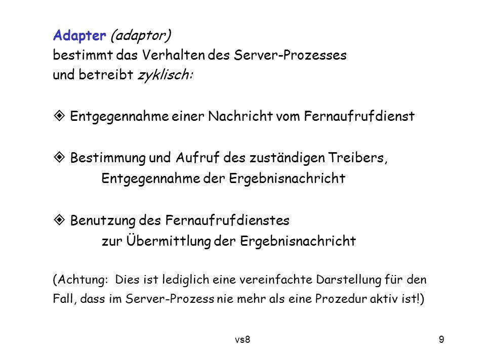 20 vs8 8.1.4 Semantik von Fernaufrufen sollte eigentlich kein Thema sein – Verteilungsabstraktion.