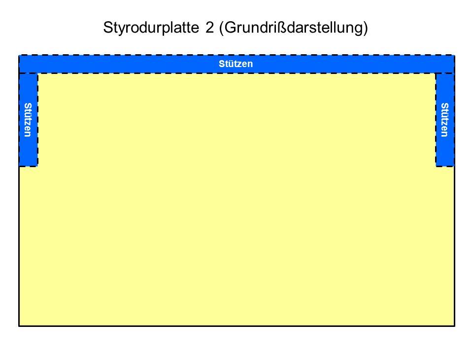 Styrodurplatte 2 (Grundrißdarstellung) Stützen