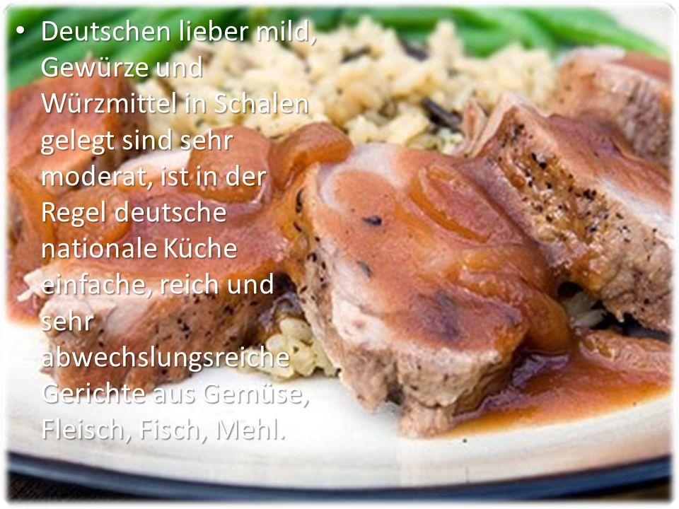 Charakteristisch für die Deutschen nutzen für Frühstück und Abendessen und alle Arten von Sandwiches (wörtlich Brot und Butter) mit verschiedenen Öl-und Öl-Massen, Gemüse, Wurst, Fisch.