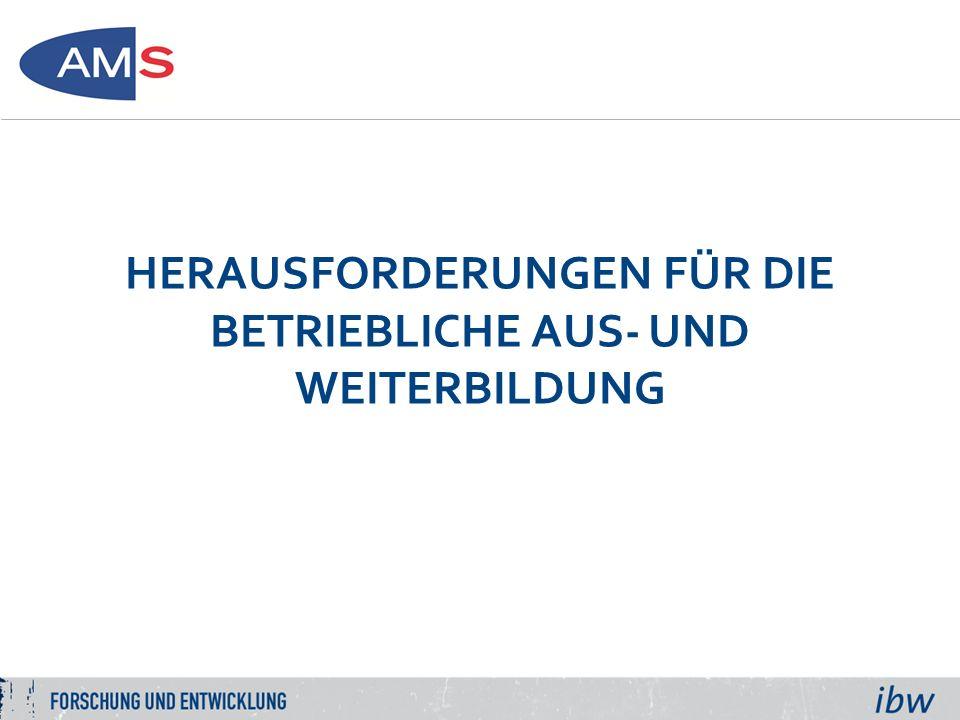 HERAUSFORDERUNGEN FÜR DIE BETRIEBLICHE AUS- UND WEITERBILDUNG