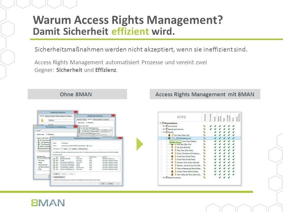 Warum Access Rights Management. Damit Sicherheit effizient wird.