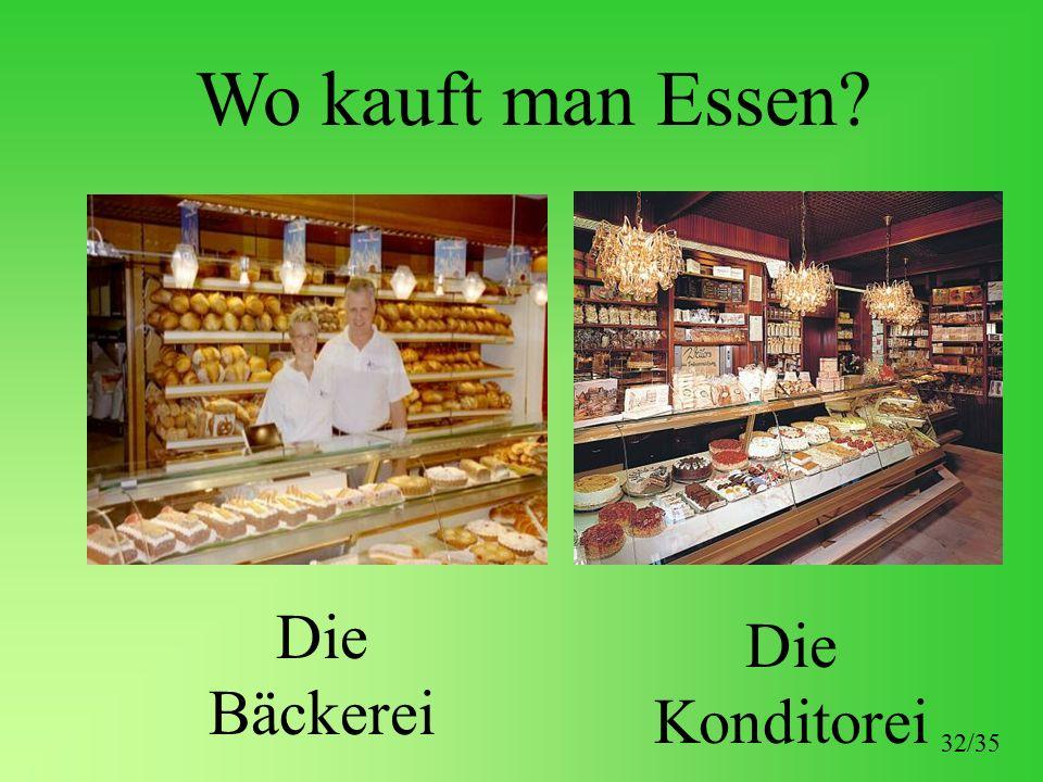 Wo kauft man Essen? Die Bäckerei Die Konditorei 32/35
