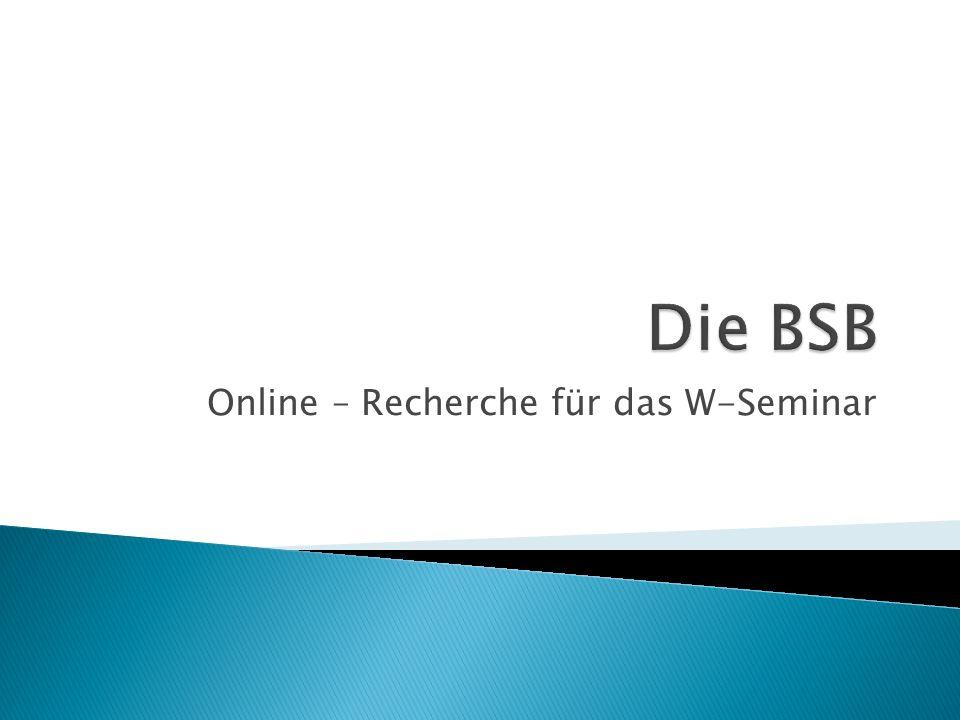 Online – Recherche für das W-Seminar