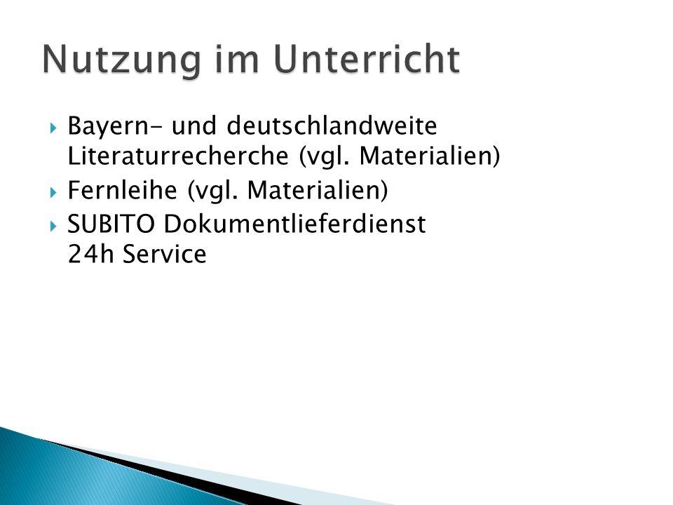  Bayern- und deutschlandweite Literaturrecherche (vgl.