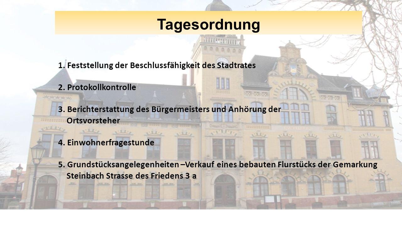 Tagesordnung 6.Diskussion und Beschlussfassung zur Annahme einer Spende 7.