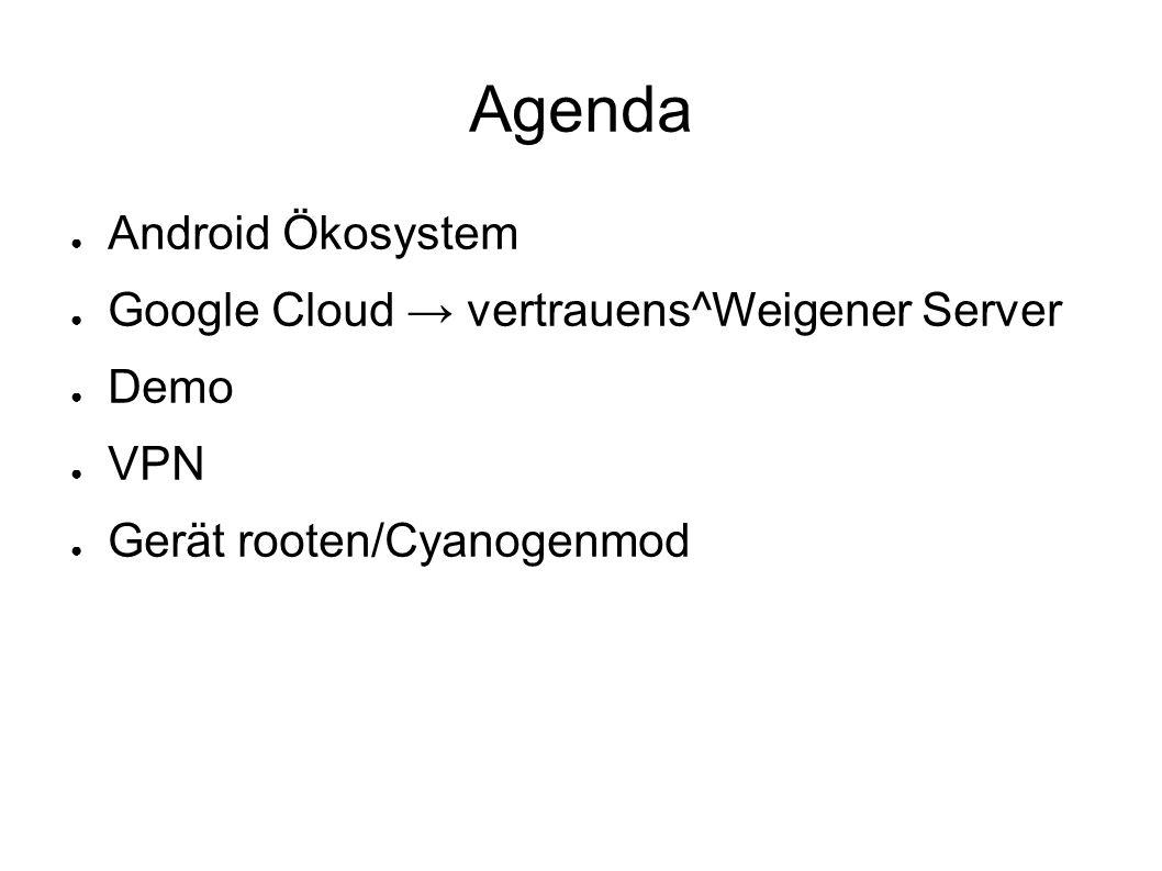 Ohne Ersatz ● Google Cloud Messaging ● APIs ● App-Backup ● Spracherkennung (On-/Offline)