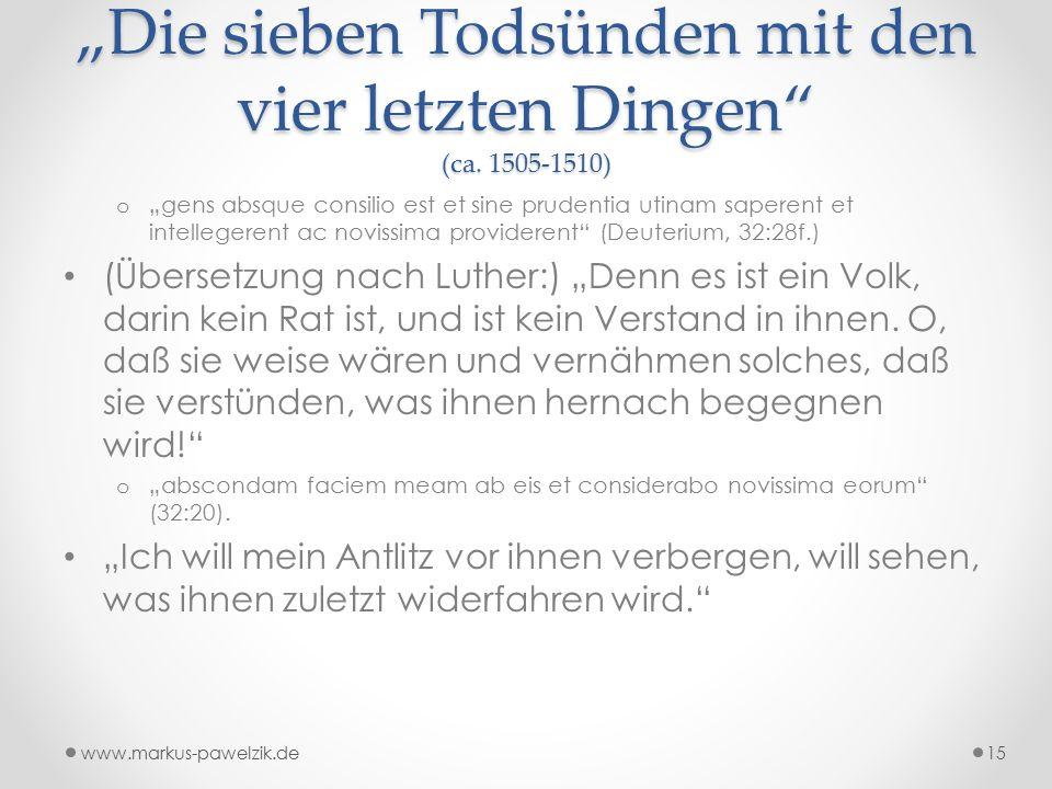 """""""Die sieben Todsünden mit den vier letzten Dingen (ca."""