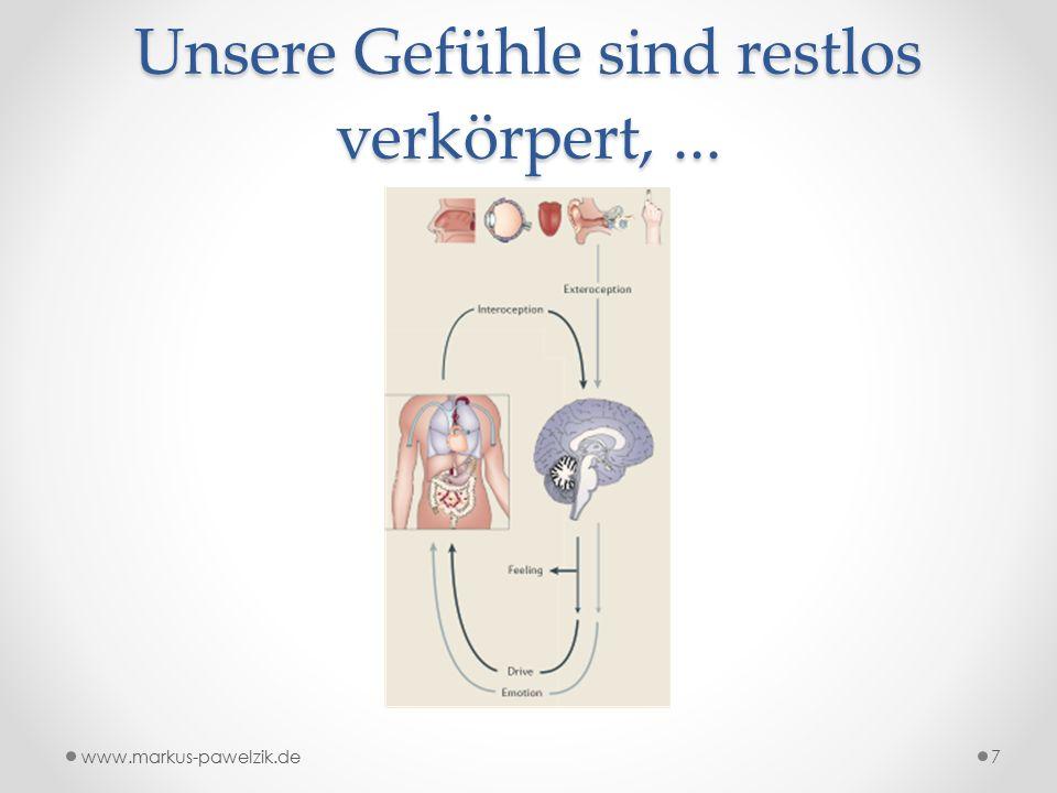 Unsere Gefühle sind restlos verkörpert,... www.markus-pawelzik.de7