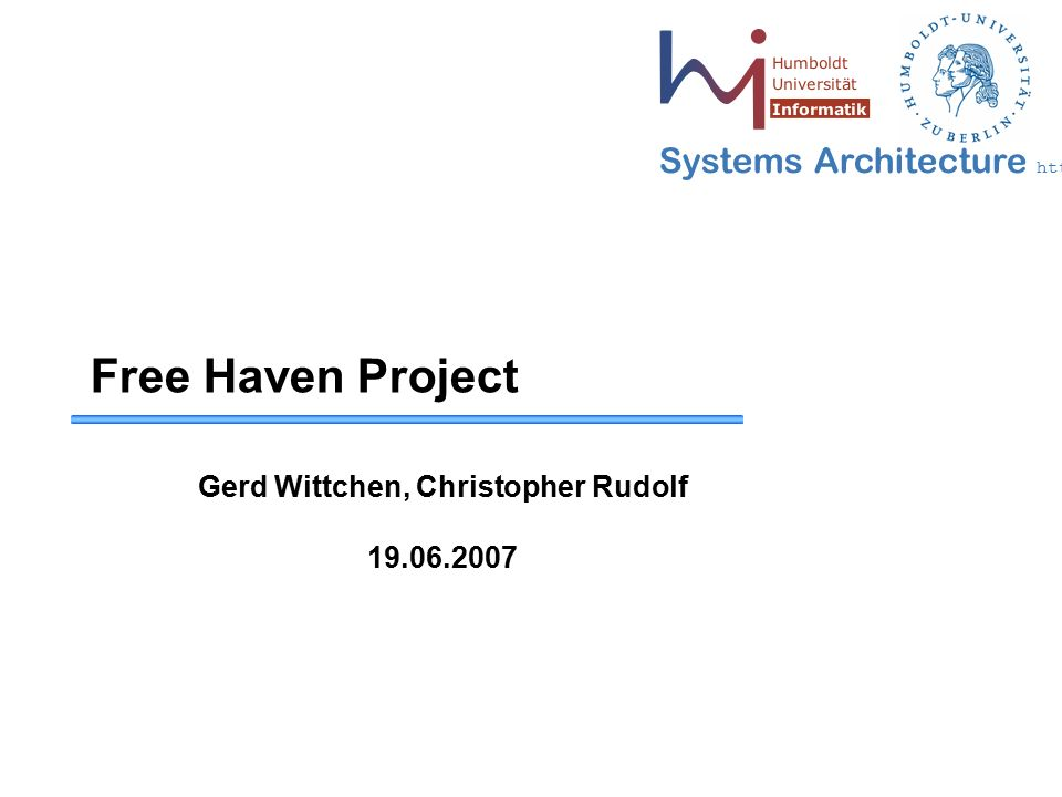 22 May 2006 - 22 Systems Architecture http://sar.informatik.hu-berlin.de Publication 1.