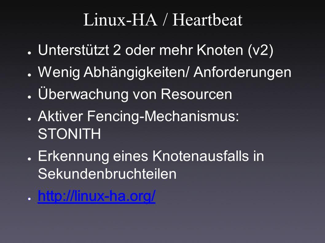 Linux-HA / Heartbeat