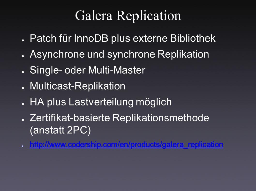 Galera Replication