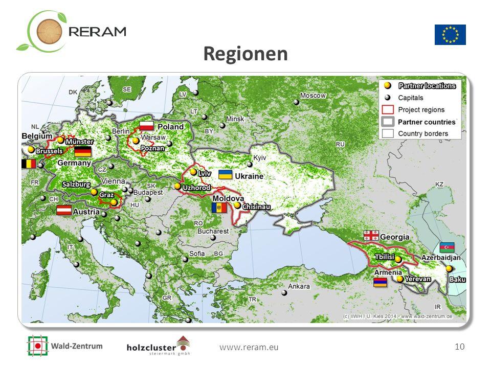 www.reram.eu 10 Regionen