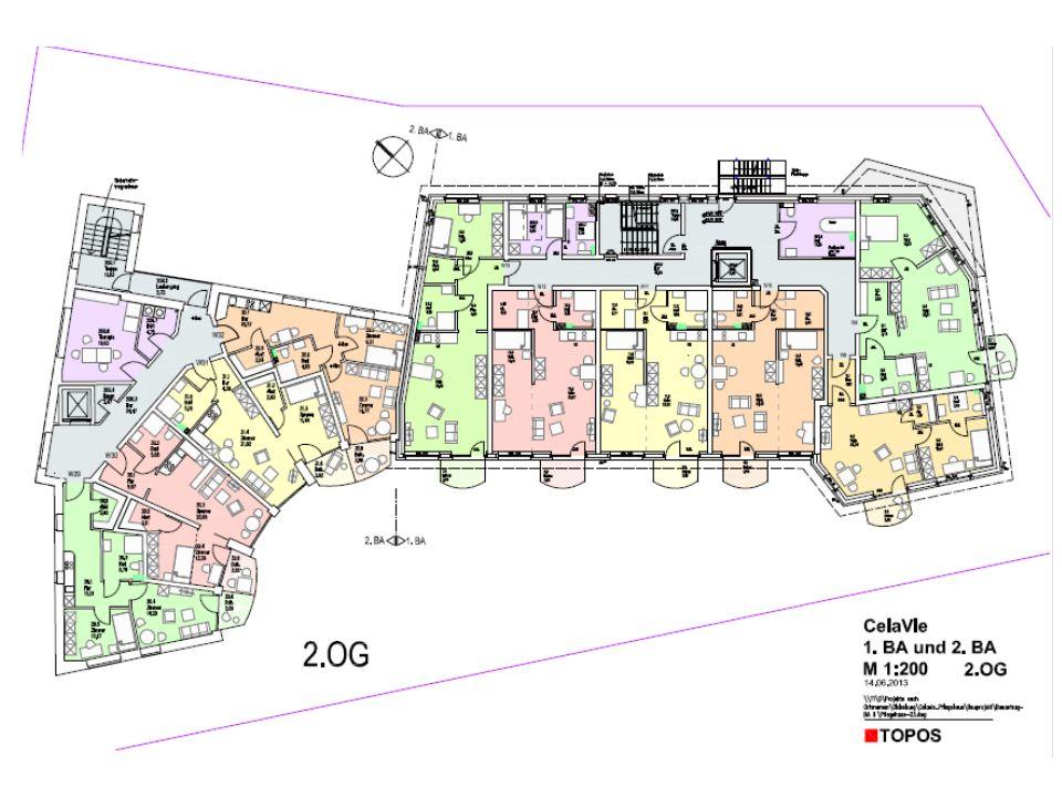 """3.Baustein """"4 Wohnungen für jüngere Menschen 4 Eigentumswohnungen 50/60 qm verteilt im 2."""