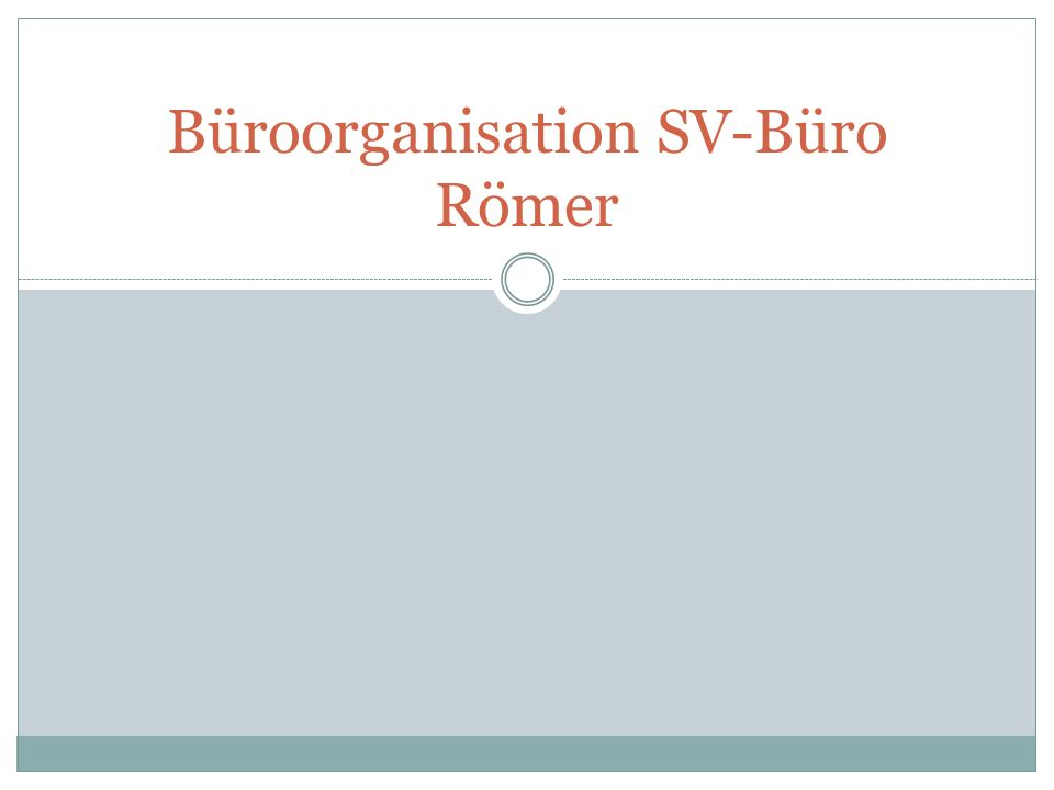 Büroorganisation SV-Büro Römer