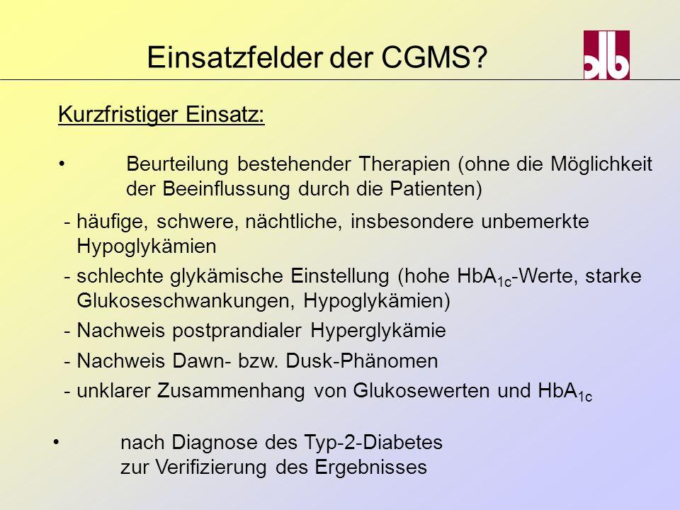 Beurteilung bestehender Therapien (ohne die Möglichkeit der Beeinflussung durch die Patienten) -häufige, schwere, nächtliche, insbesondere unbemerkte