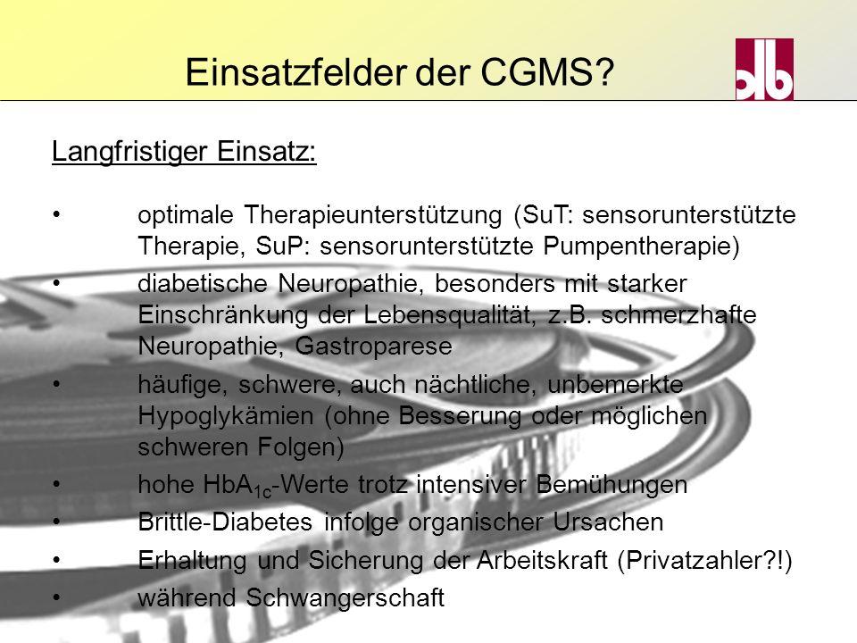 optimale Therapieunterstützung (SuT: sensorunterstützte Therapie, SuP: sensorunterstützte Pumpentherapie) diabetische Neuropathie, besonders mit stark