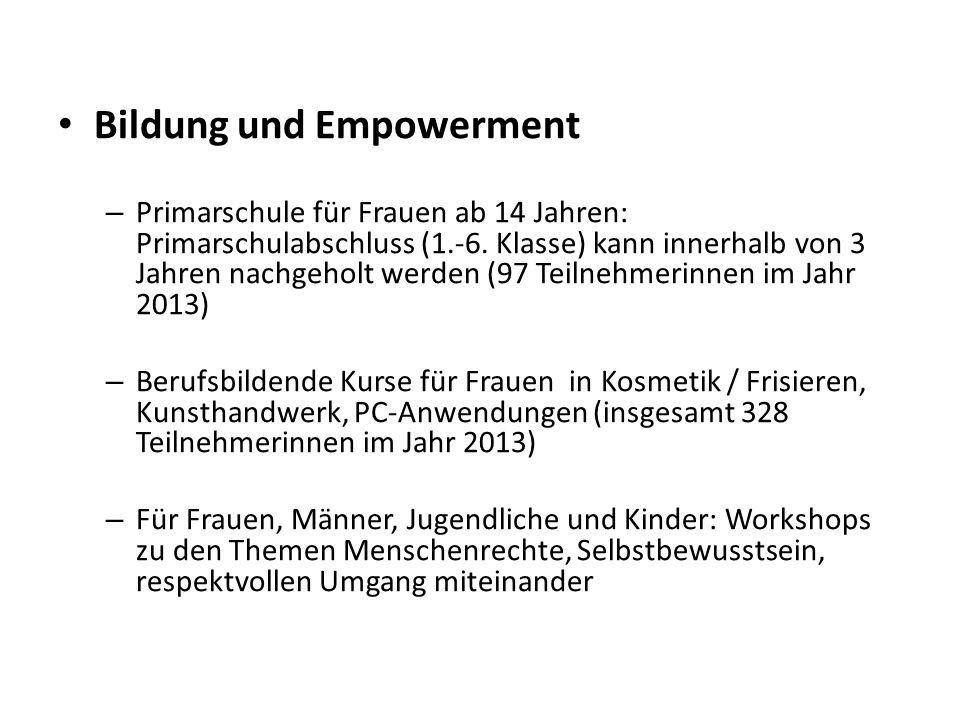 Bildung und Empowerment – Primarschule für Frauen ab 14 Jahren: Primarschulabschluss (1.-6.