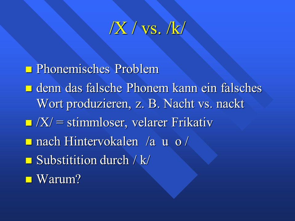 /X / vs.