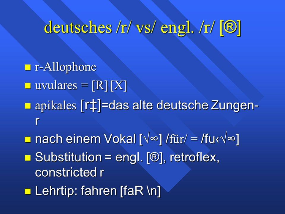 deutsches /r/ vs/ engl.