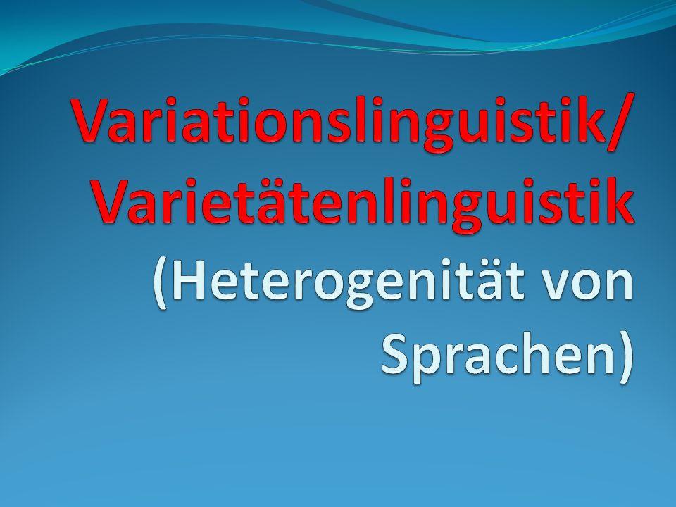 Sie unterscheiden sich nach sechs außersprachliche Bereiche, die besonders die verwendete Sprachvarietät bedingen: -dem Medium - -geschrieben oder gesprochen (Mediolekte) -der Funktion- -im Alltag, in der Öffentlichkeit, in der Literatur (Funktiolekte)