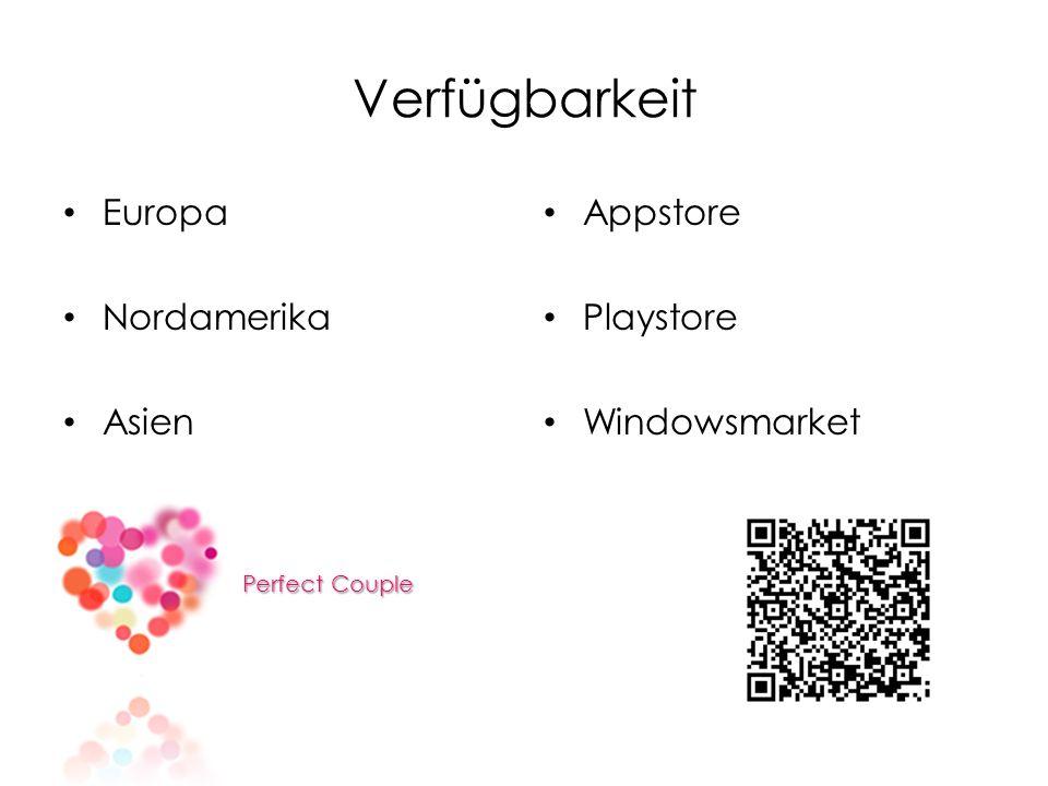 Verfügbarkeit Europa Nordamerika Asien Perfect Couple Perfect Couple Appstore Playstore Windowsmarket
