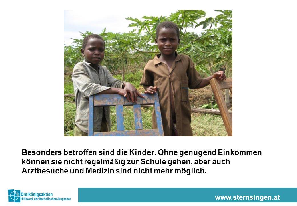 www.sternsingen.at Besonders betroffen sind die Kinder.