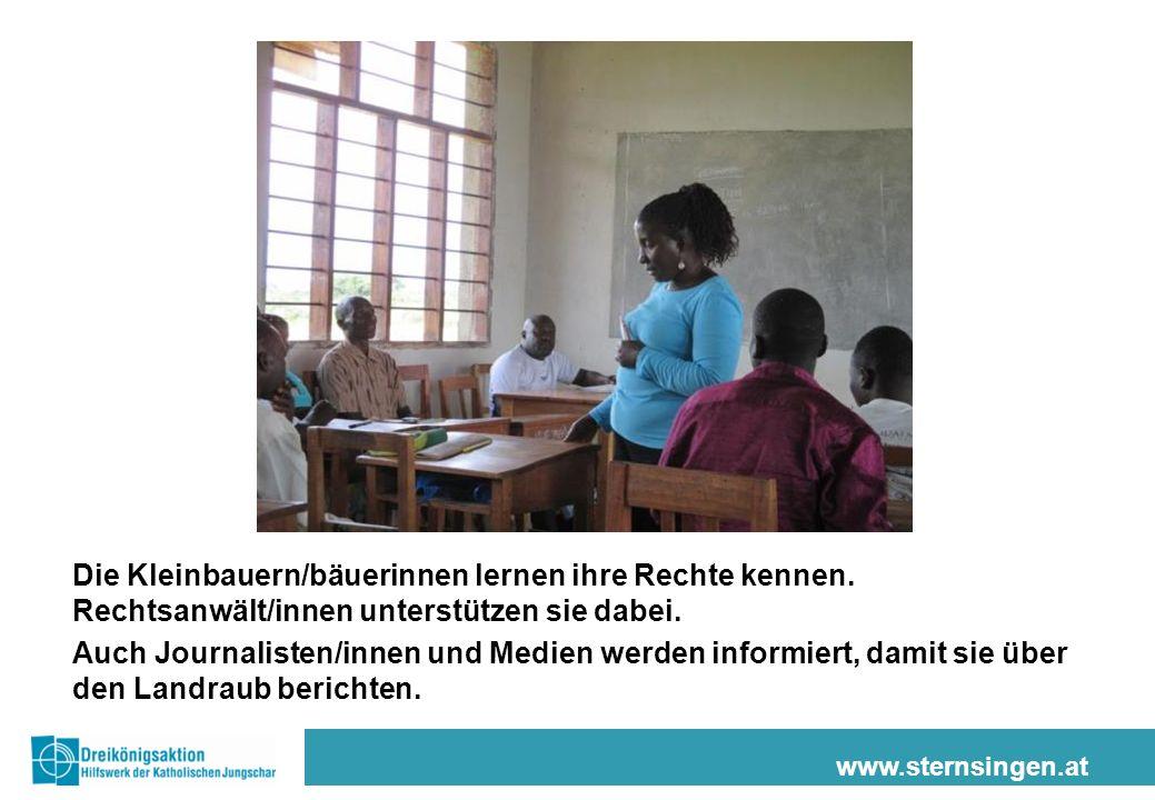 www.sternsingen.at Viele Bauernfamilien können sich nun erfolgreich wehren.