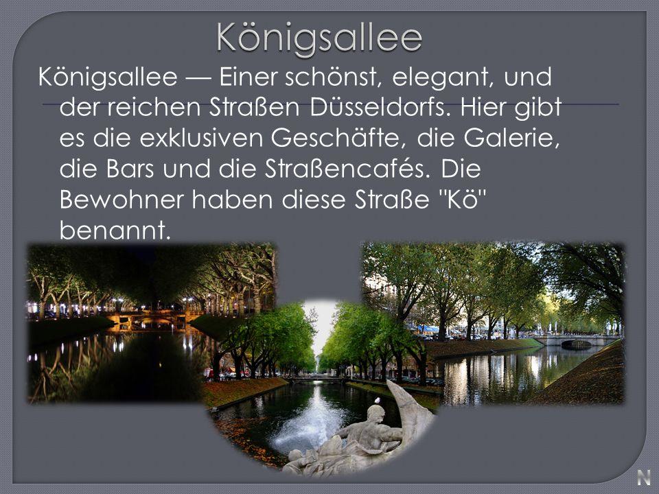 Königsallee — Einer schönst, elegant, und der reichen Straßen Düsseldorfs.