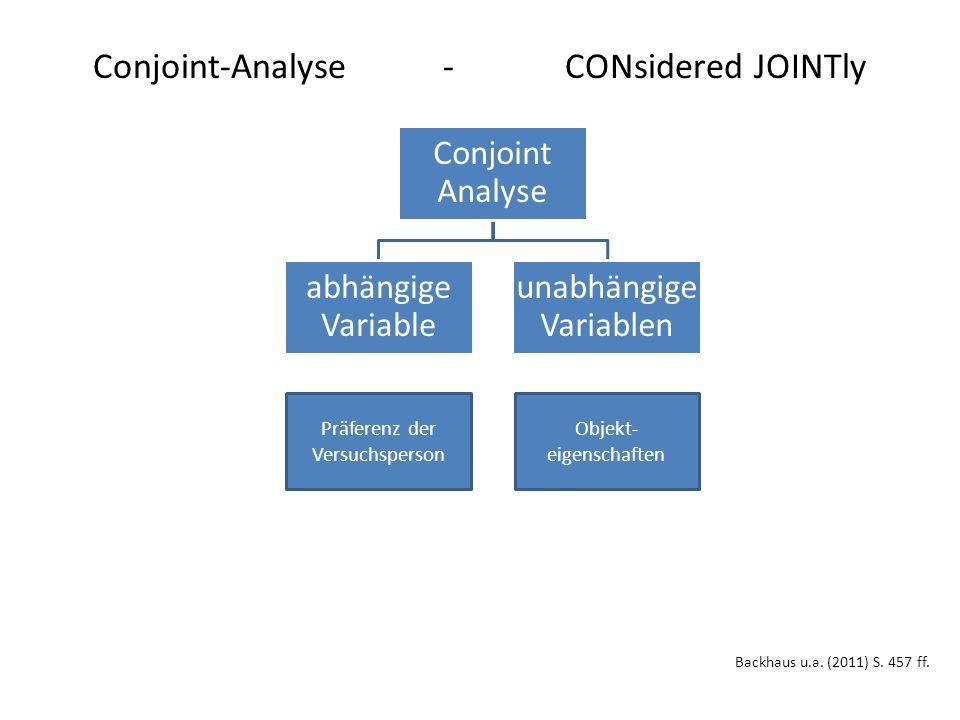 Ablaufschritte einer Conjoint-Analyse Backhaus u.a.