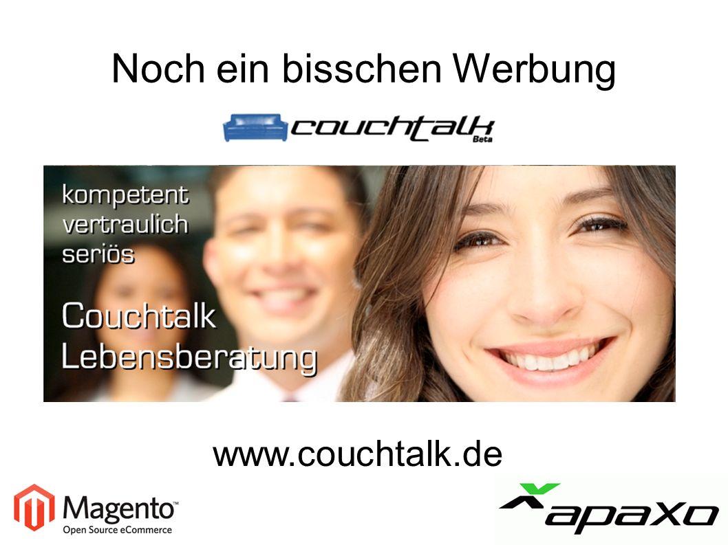 Noch ein bisschen Werbung www.couchtalk.de