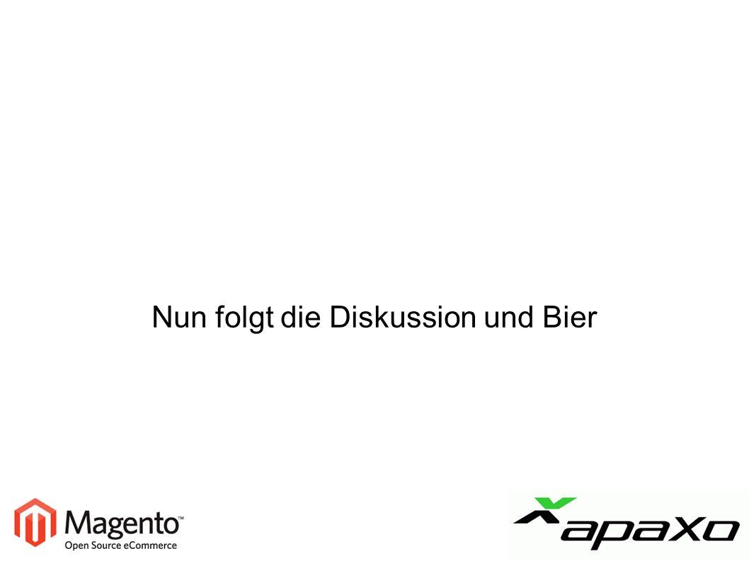 Nun folgt die Diskussion und Bier