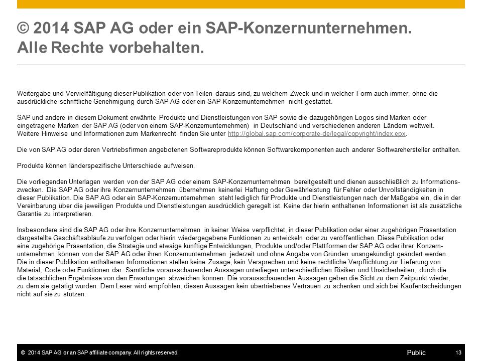 ©2014 SAP AG or an SAP affiliate company.