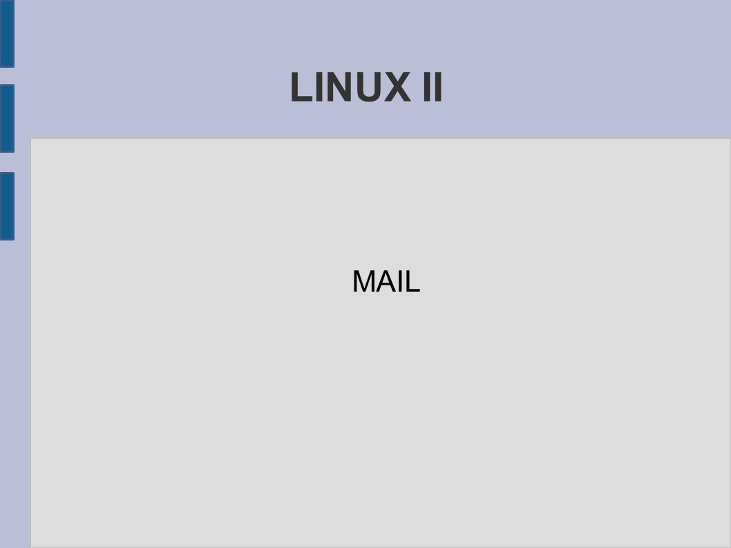 LINUX II MAIL