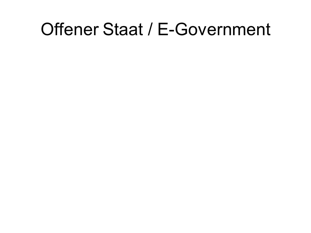 Offener Staat / E-Government