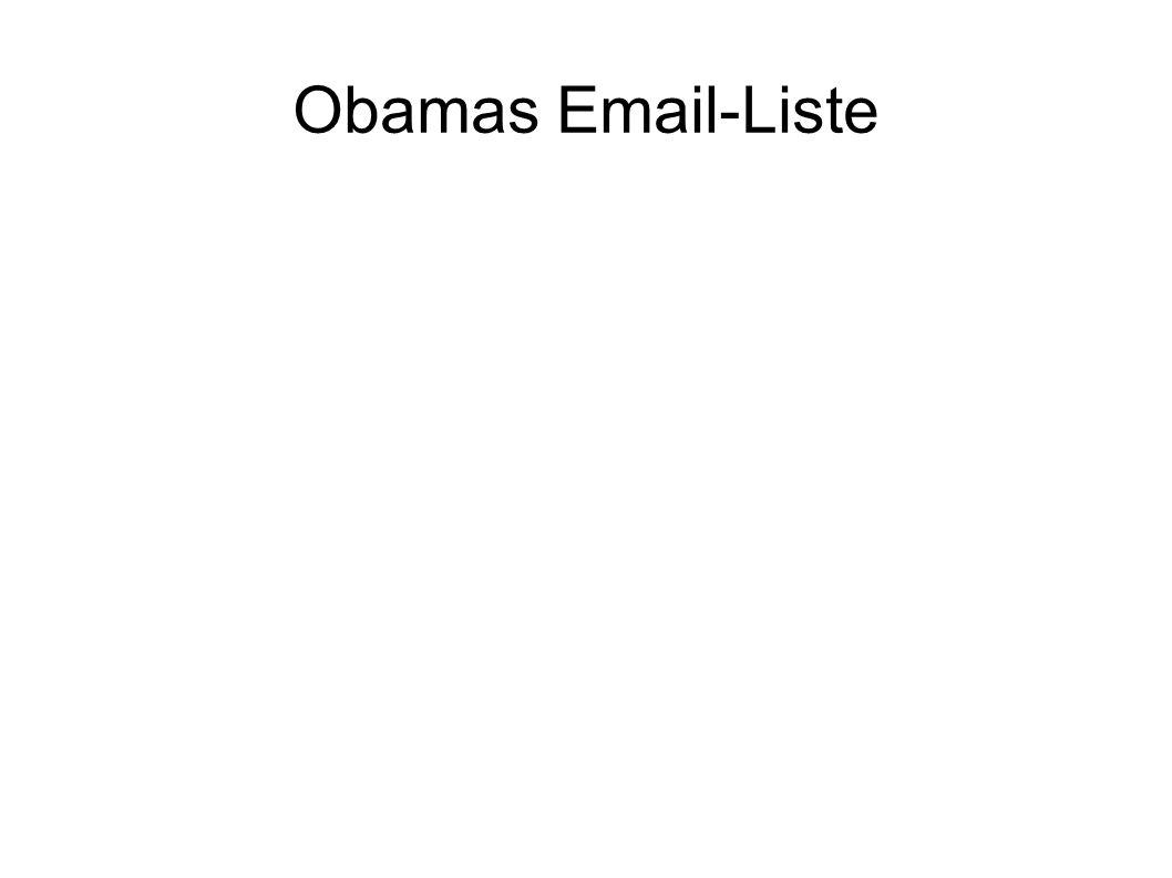 Obamas Email-Liste