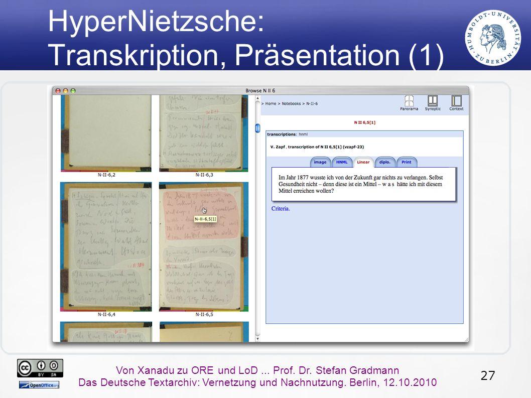 27 Von Xanadu zu ORE und LoD... Prof. Dr.
