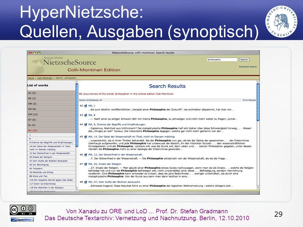 29 Von Xanadu zu ORE und LoD... Prof. Dr.