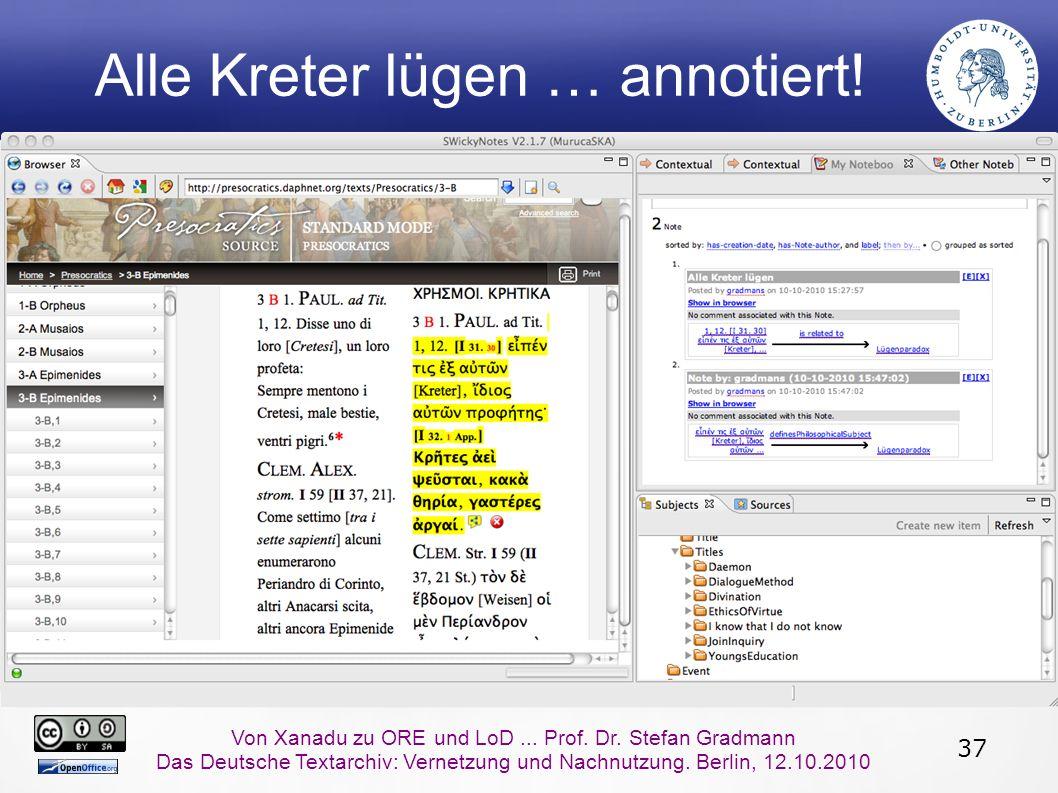 37 Von Xanadu zu ORE und LoD... Prof. Dr.
