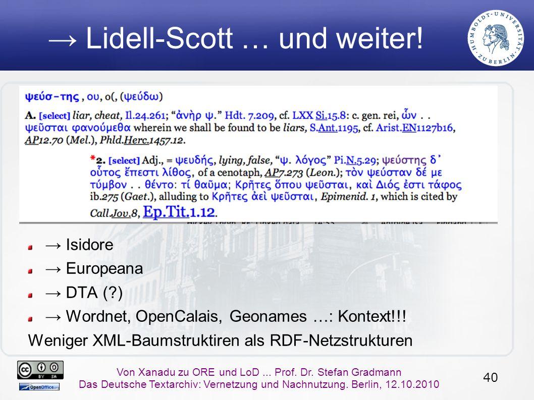 40 Von Xanadu zu ORE und LoD... Prof. Dr.